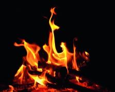 Lagerfeuer, offenes Feuer, Flammen, Glut