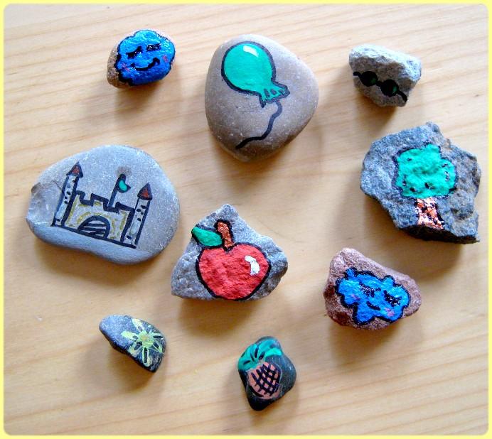 Bemalte Steine