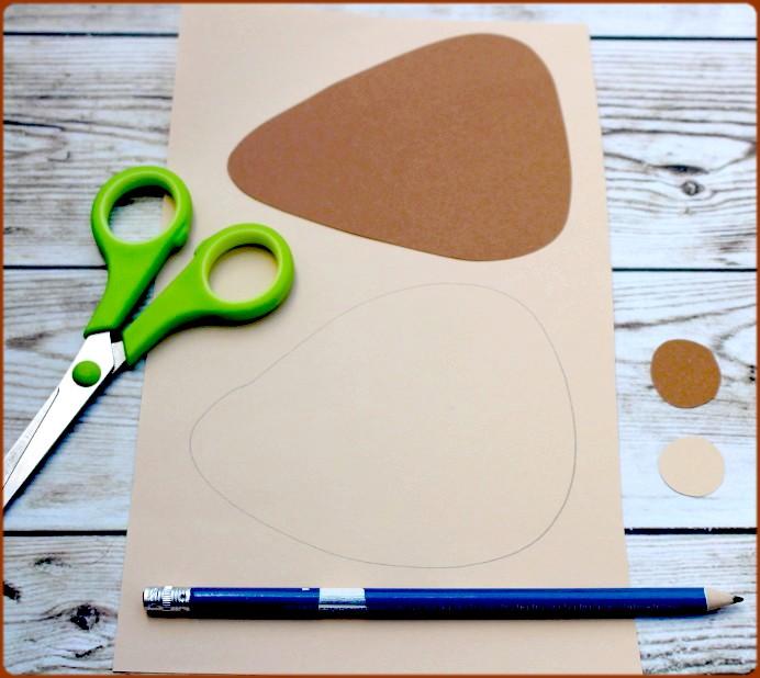 Igelkörper aus Papier ausschneiden DIY