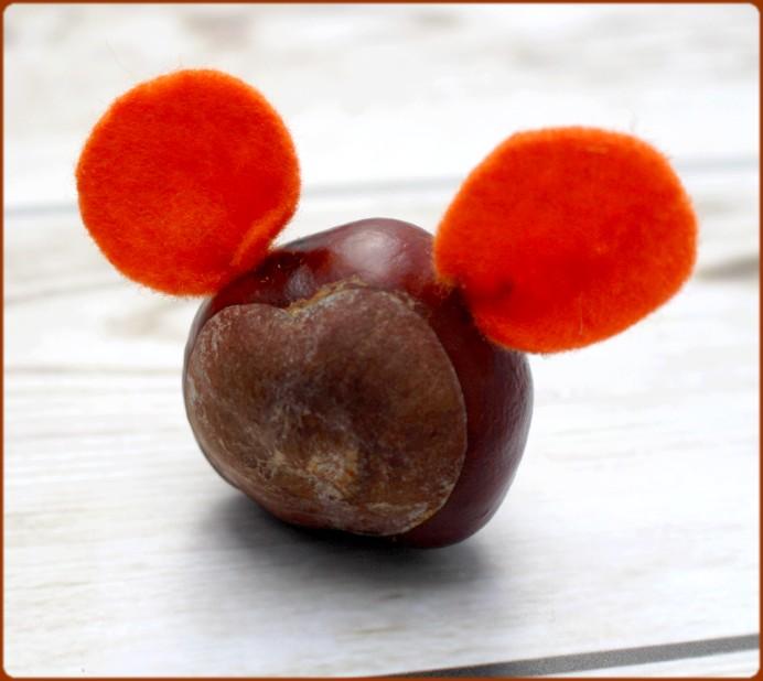Mäuseohren aus Filz in Kastanie bohren DIY