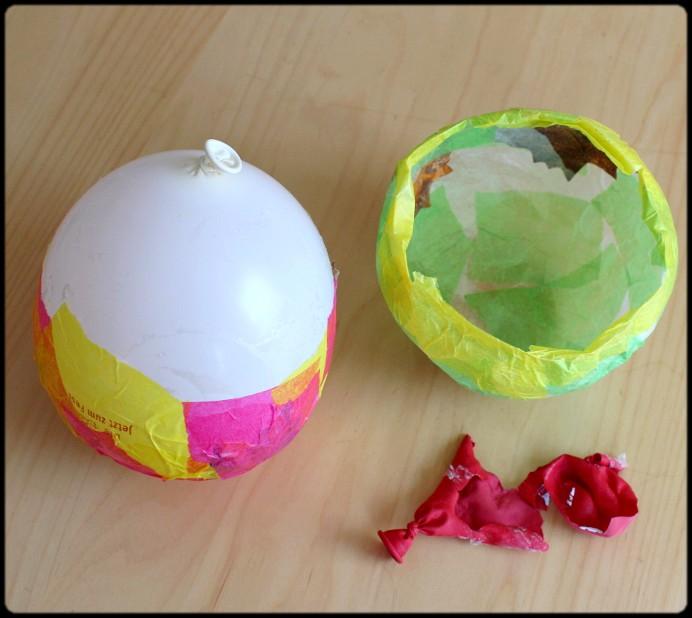 5. Schritt Luftballon platzen lassen und entfernen DIY (2)