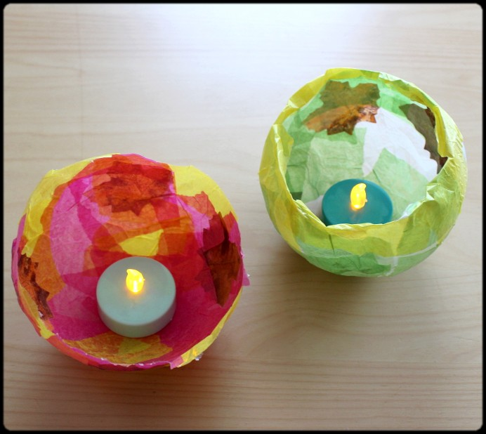 6. Kerzen hineinstellen und Licht ausschalten DIY (1)