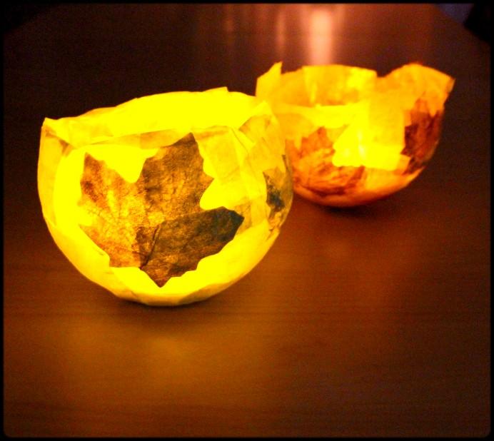 6. Kerzen hineinstellen und Licht ausschalten DIY (2)