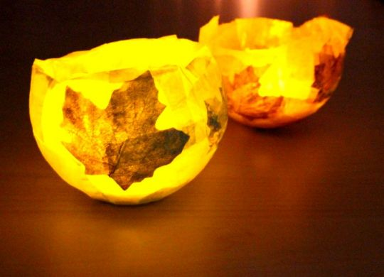 DIY Lichtschale aus Ballon und Kleber basteln