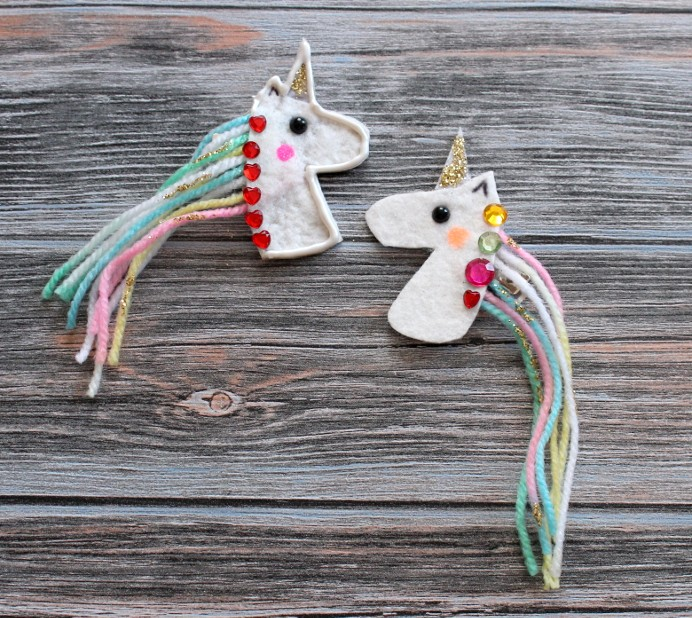 6. Einhorn Haarspange selber machen DIY basteln Unicorn (2)