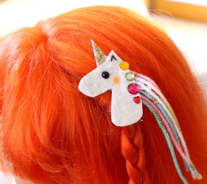 DIY Unicorn Hairclip Haarschmuck Einhorn selber machen aus Filz (2)
