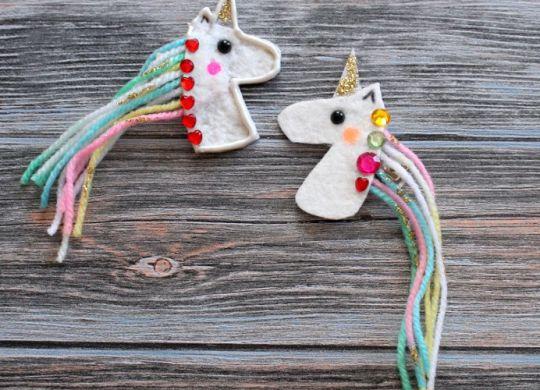 Wir basteln Einhorn Haarklammern Hairclip DIY Unicorn