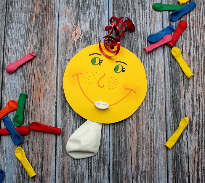 Einladung Kindergeburtstag mit Luftballon DIY basteln (1)