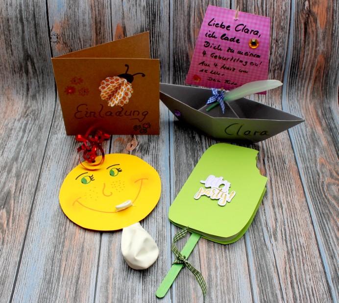 Kartensammlung DIY Einladungen