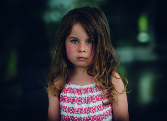 Young girl with beautiful eyes